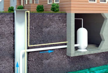 Монтаж зимнего водопровода