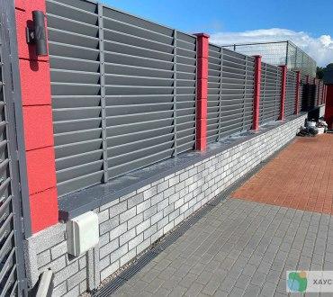 Забор в п. Ропша в Ломоносовском районе (Ленинградская область) 9