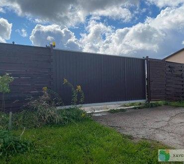 Забор из евроштакетника в п. Ропша в Ломоносовском районе (Лен.область) 5