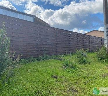 Забор из евроштакетника в п. Ропша в Ломоносовском районе (Лен.область) 7
