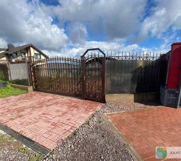 Забор из евроштакетника в п. Ропша в Ломоносовском районе (Лен.область) 8