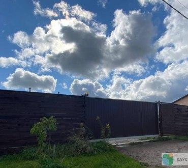 Забор из евроштакетника в п. Ропша в Ломоносовском районе (Лен.область) 9
