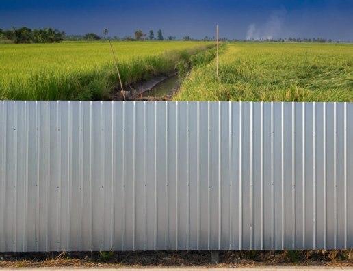 Забор из оцинкованного профнастила Эконом 2