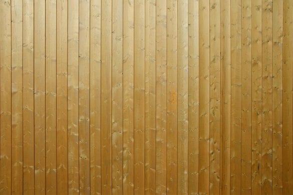 Деревянный сплошной забор