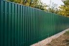 Забор из двухстороннего профнастила Премиум