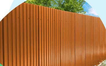 Забор из профнастила с двухсторонним покрытием по цене одностороннего!